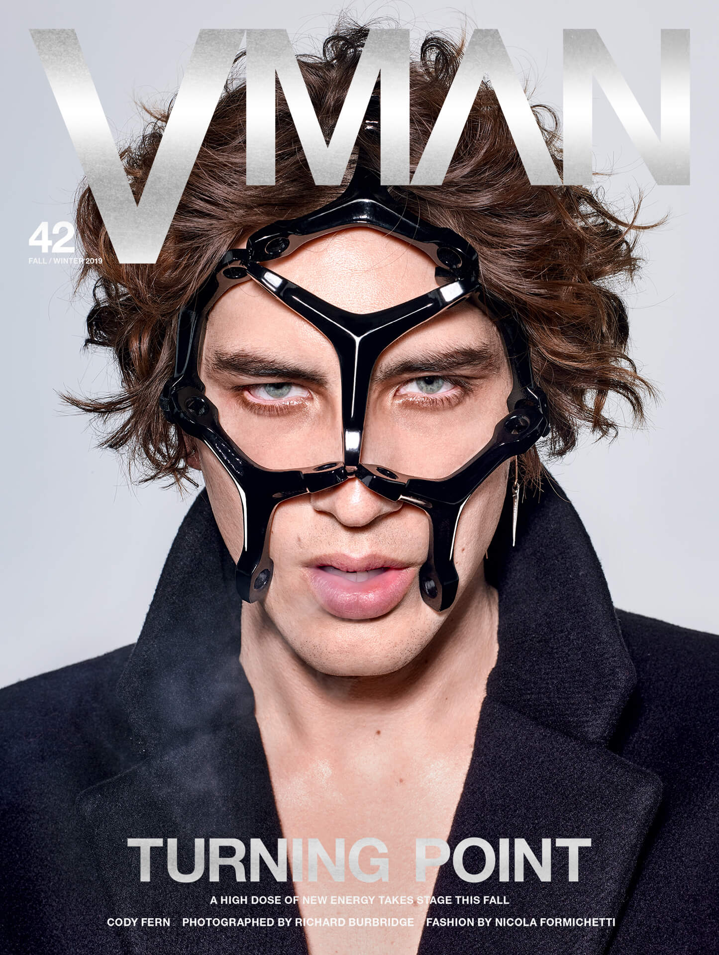 Cody Fern covers VMAN Issue 42 (Fall/Winter 2019)