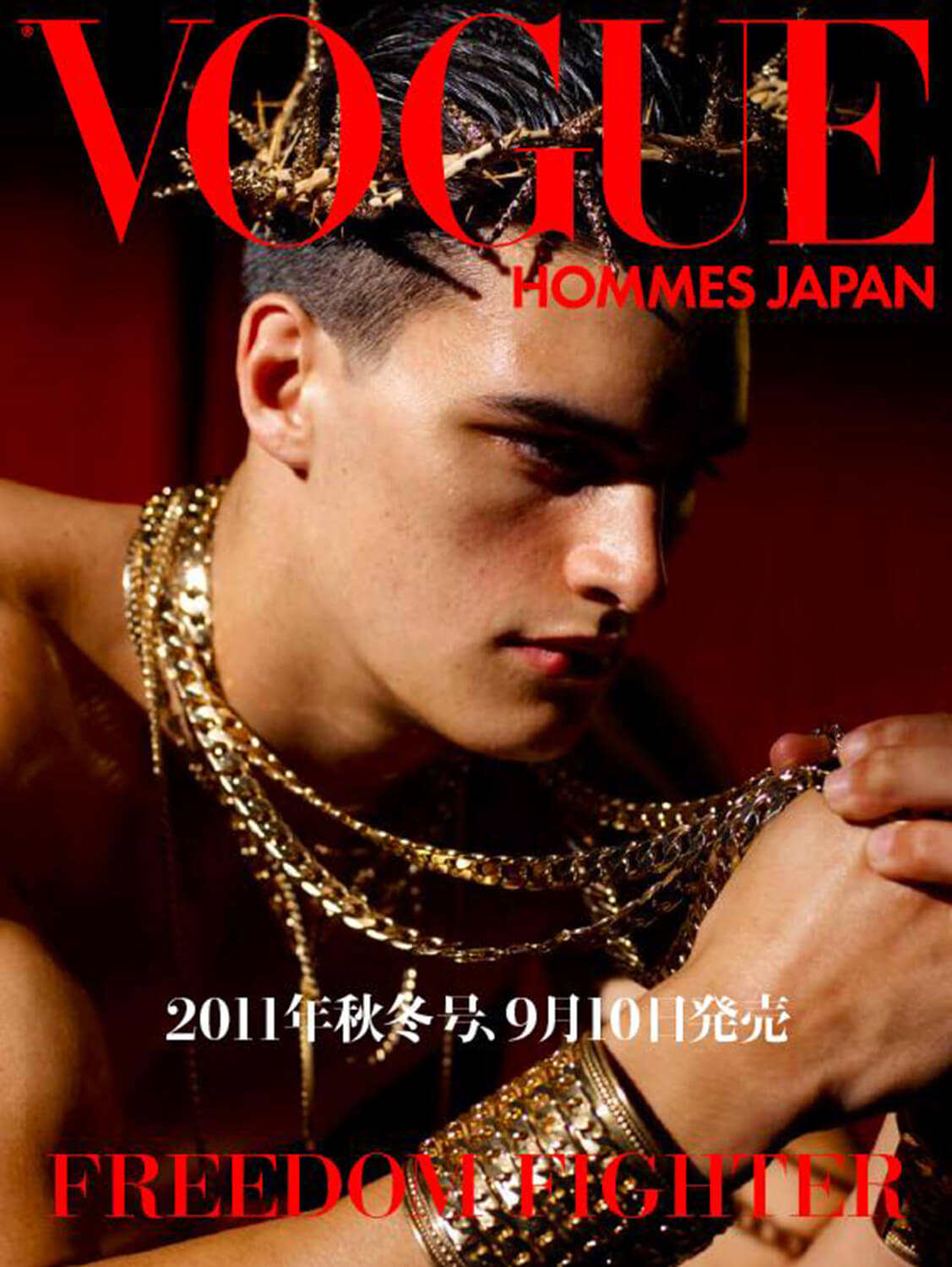 Vogue Hommes Japan Cover for Vogue Hommes Japan (Fall/Winter 2010)