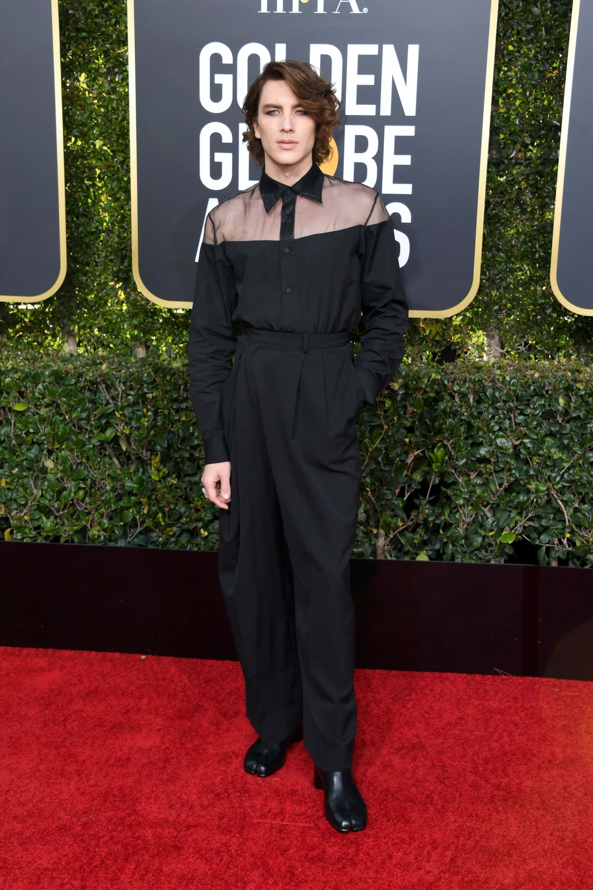 Cody Fern at the Golden Globes